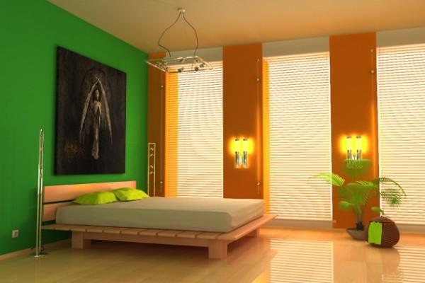 Спальня: покрасить потолок, каким цветом