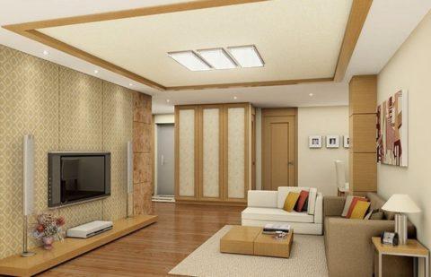 Способ отделки потолка и его форма должны соответствовать выбранному стилю интерьера