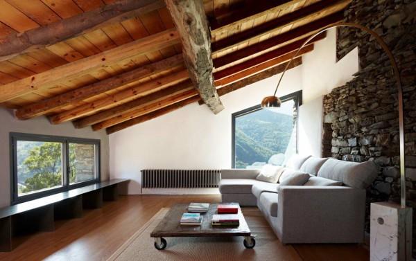 Старый потолок, как элемент стильного дизайна