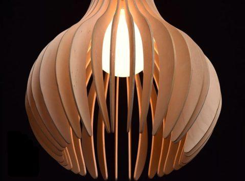 """Светильник из деревянных пластин в стиле """"эко"""""""