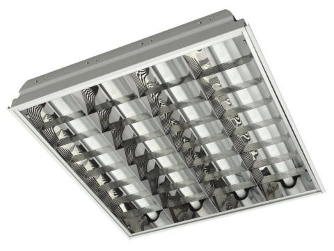 Светильники дневного света потолочные с отражателями, под кассетные потолки