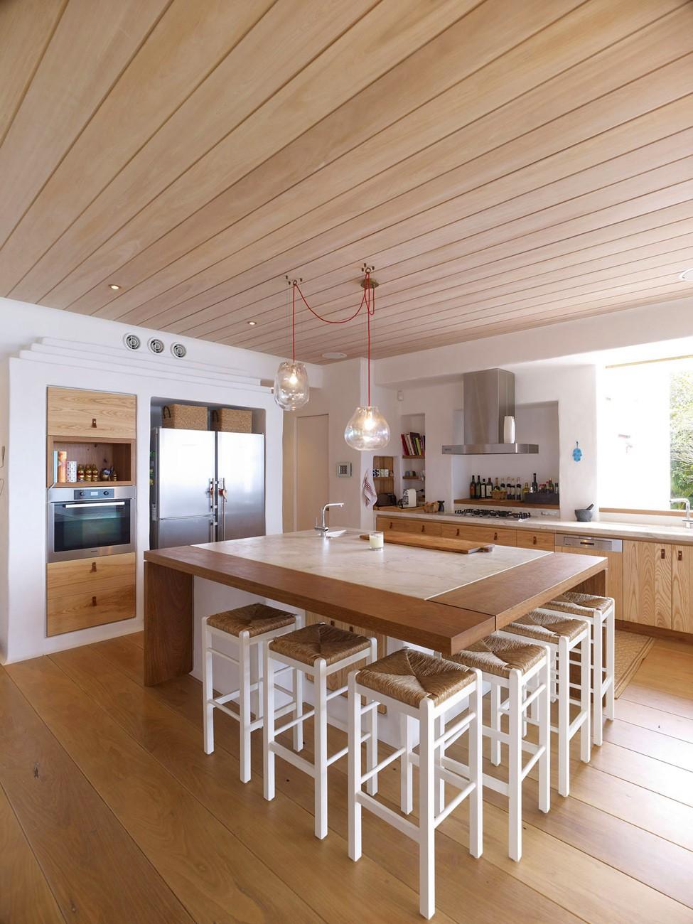 деревянный потолок в квартире фото личного