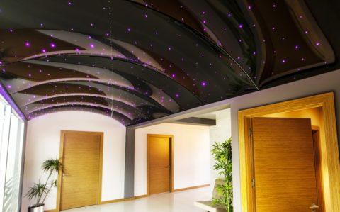 Сводчатый потолок со звездной подсветкой