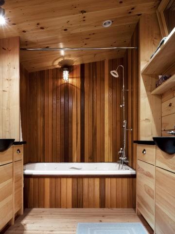 Термообработанная древесина не боится влажности