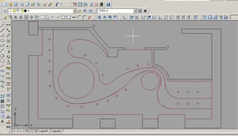 Точный компьютерный чертеж многоуровневого потолка