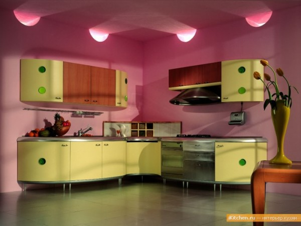 Яркие цвета на кухне стимулируют аппетит