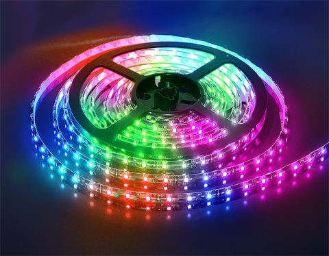 Цветная лента светодиодная