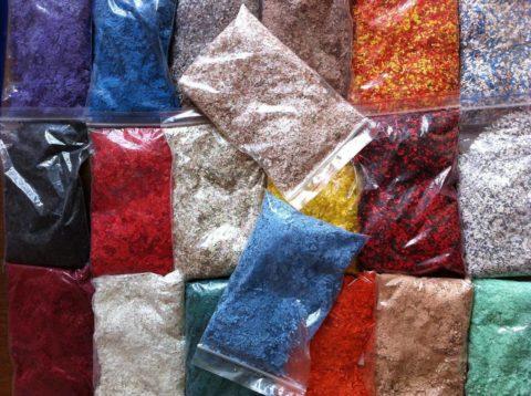 Цветные добавки для самостоятельного приготовления жидких обоев