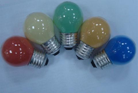 Цветные лампы накаливания