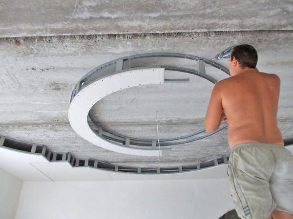 Установка круглого элемента каркаса своими руками
