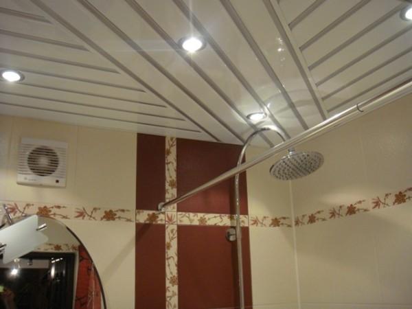 Установка: потолок реечный закрытого типа