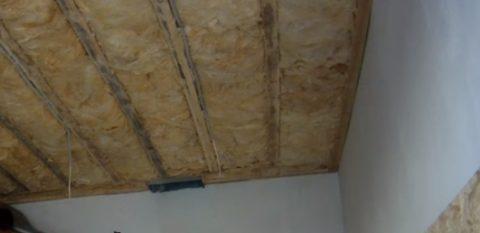Утепленный потолок гаража