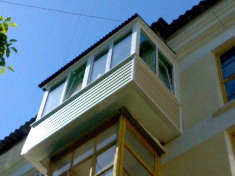Увеличенный балкон
