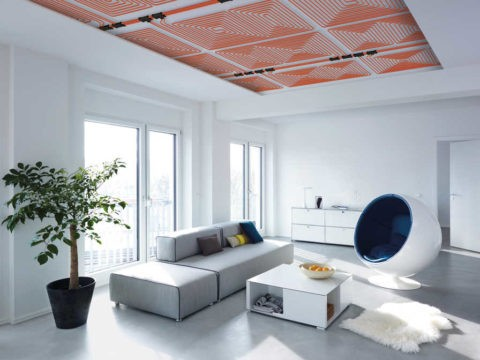 В такой потолок можно даже обогреватели встраивать