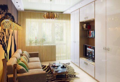 Вариант оформления небольшой гостиной