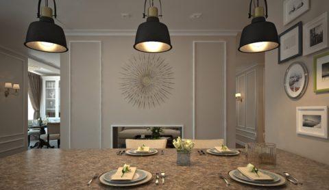 Вариант подсветки столовой зоны