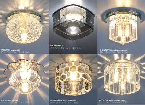 Варианты светодиодных светильников для натяжных потолков