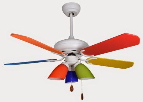 Вентилятор и светильник для детского помещения