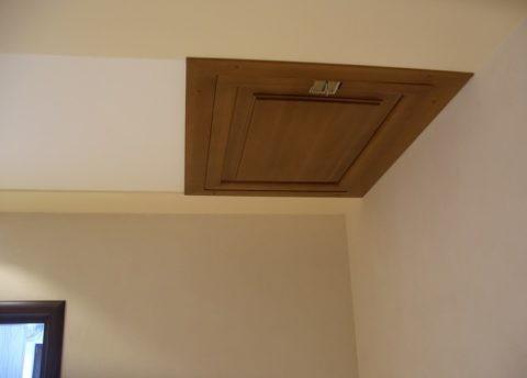 Видимый потолочный люк