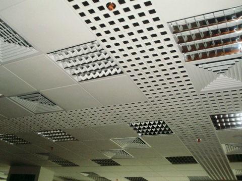 Воздухораспределители на подвесном потолке