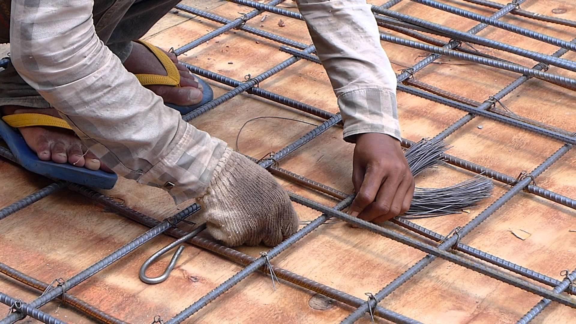 вязка арматуры цена работы за квадратный метр