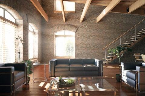 Габариты и большие окна – неотъемлемые атрибуты стиля «Лофт»