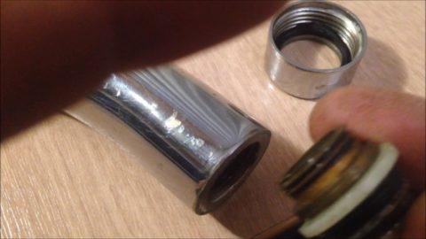 Замена прокладки на гусаке смесителя