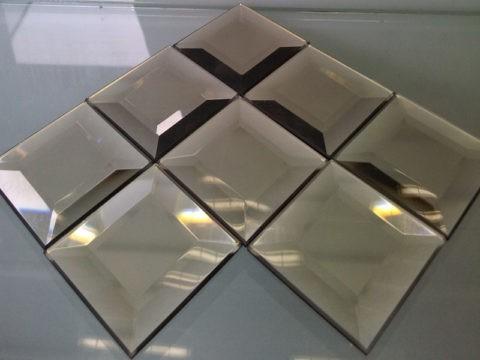 Зеркальная мозаика с огранкой